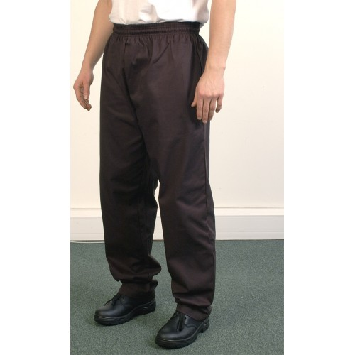 Black Baggy Chefs Trouser